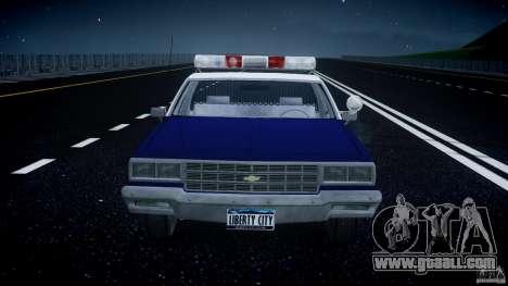 Chevrolet Impala Police 1983 [Final] for GTA 4 interior