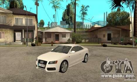 Audi S5 2008 for GTA San Andreas