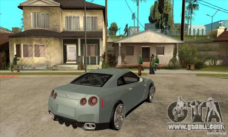 Nissan GT-R R35 for GTA San Andreas right view