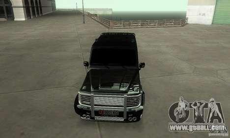 Mercedes Benz G500 ART FBI for GTA San Andreas back view