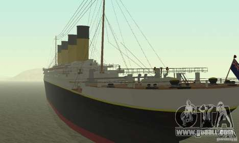 RMS Titanic for GTA San Andreas left view