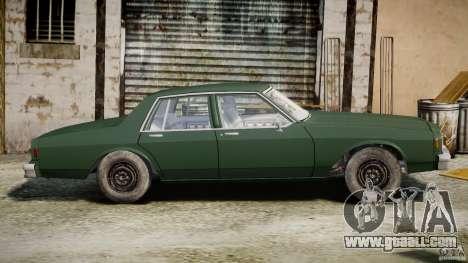 Chevrolet Impala 1983 v2.0 for GTA 4 back left view