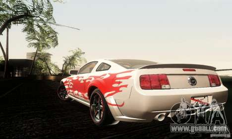 Ford Mustang GT Tunable for GTA San Andreas back view
