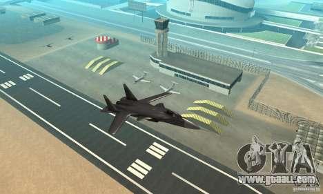 Su-47 berkut Defolt for GTA San Andreas right view