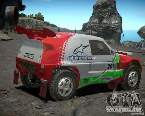 Mitsubishi Pajero Proto Dakar EK86 Vinyl 2 for GTA 4 back left view