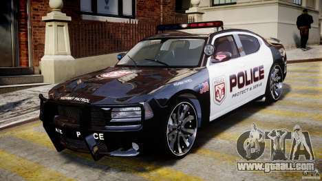 Dodge Charger NYPD Police v1.3 for GTA 4 left view