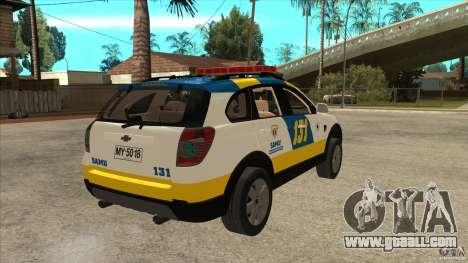 Chevrolet Captiva Police for GTA San Andreas right view