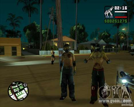 New skins for Groove for GTA San Andreas forth screenshot