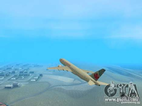 Boeing 767-300 Air Canada for GTA San Andreas right view