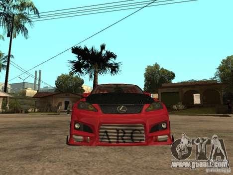 Lexus Drift Car for GTA San Andreas right view