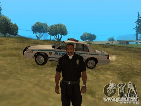 Ford Crown Victoria NYPD Police for GTA San Andreas upper view