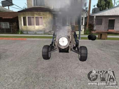 Turbo car v.2.0 for GTA San Andreas back view