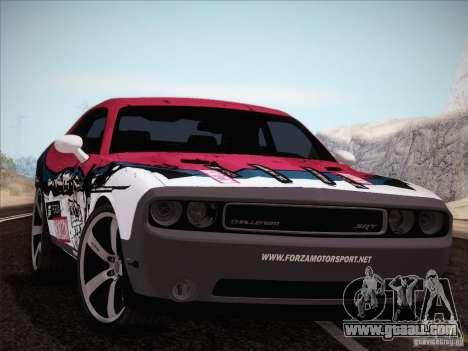 Dodge Challenger SRT8 2010 for GTA San Andreas upper view