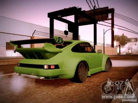 Porsche 911 Turbo RWB Pandora One for GTA San Andreas right view