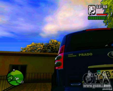 Toyota Land Cruiser Prado 120 for GTA San Andreas back left view