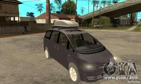Toyota Estima for GTA San Andreas back view