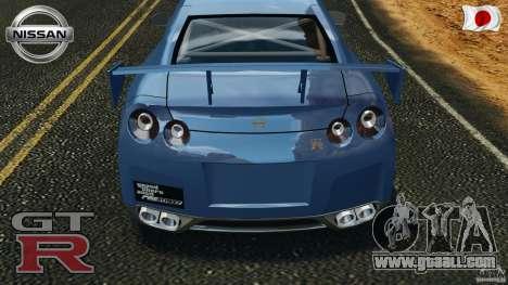 Nissan GT-R 35 rEACT v1.0 for GTA 4 upper view
