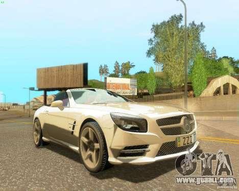 Mercedes-Benz SL350 2013 for GTA San Andreas engine