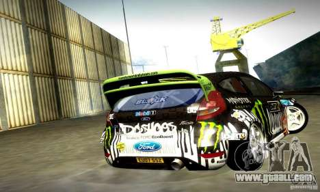 Ford Fiesta Gymkhana 4 for GTA San Andreas back view