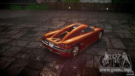 Koenigsegg CCX v1.1 for GTA 4 back left view