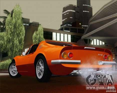 Ferrari 246 Dino GTS for GTA San Andreas side view