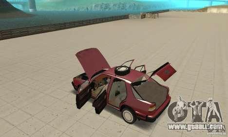 Saab 9000 for GTA San Andreas inner view