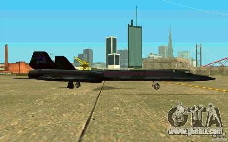 SR-71A BLACKBIRD BETA for GTA San Andreas back view