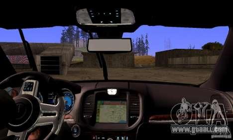 Chrysler 300c for GTA San Andreas upper view