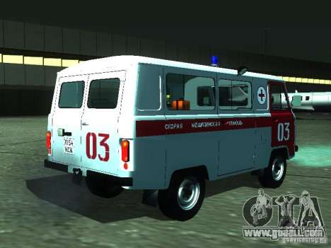 UAZ 3962 ambulance for GTA San Andreas right view