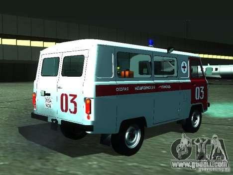 UAZ 3962 ambulance for GTA San Andreas right view