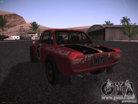 Lancia Fulvia Rally for GTA San Andreas left view