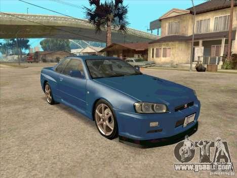 Nissan Skyline GT-R BNR34 Tunable for GTA San Andreas back left view