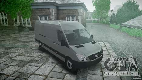 Mercedes Benz Sprinter Long Version for GTA 4 back view