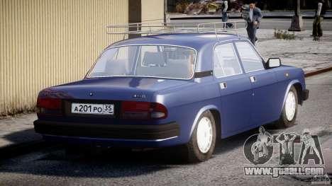 GAZ 3110 Volga for GTA 4 back left view