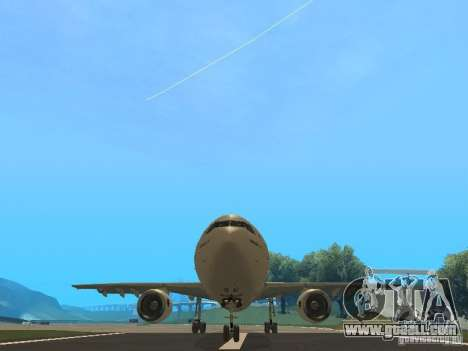 Airbus A300-600 Air France for GTA San Andreas inner view