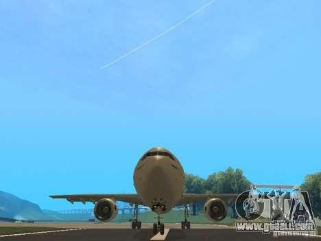 Airbus A300-600 Air France for GTA San Andreas inner view