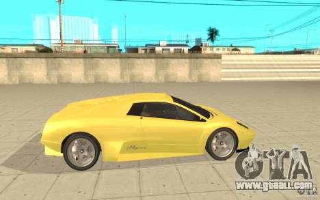 Infernus from GTA 4 for GTA San Andreas left view