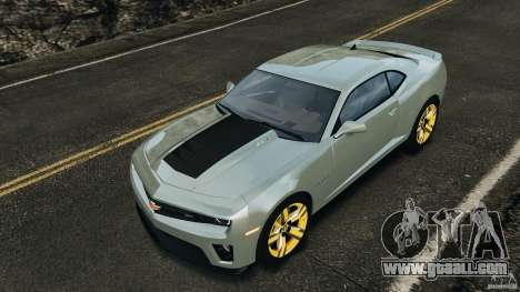 Chevrolet Camaro ZL1 2012 v1.2 for GTA 4 engine