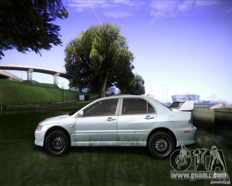Mitsubishi Lancer Evolution VIII MR for GTA San Andreas back left view