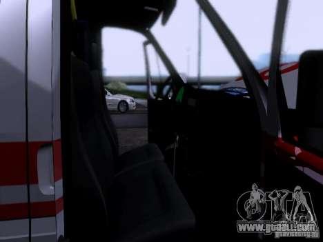 Gazelle 2705 ambulance for GTA San Andreas side view