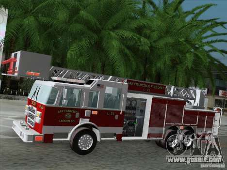 Pierce Aerials Platform. SFFD Ladder 15 for GTA San Andreas upper view