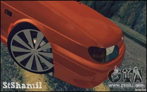 Ваз 2114 Juicy Orange for GTA San Andreas side view