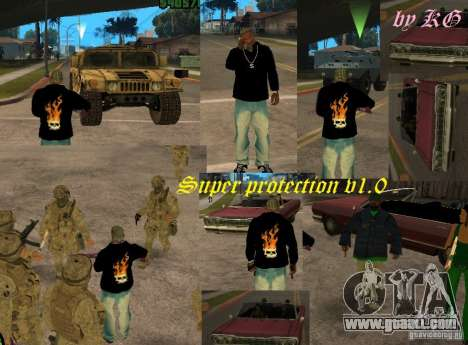 Super protection v1.0 for GTA San Andreas