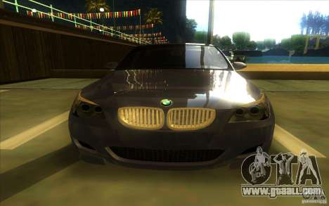 BMW M5 for GTA San Andreas inner view