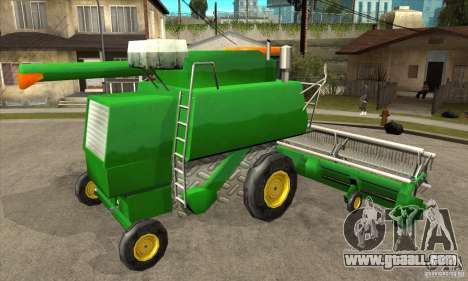 Combine Harvester Retextured for GTA San Andreas right view