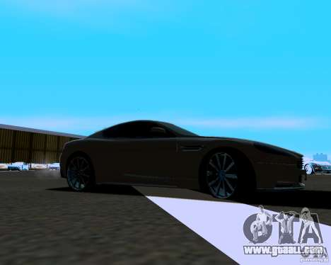Aston Martin DBS for GTA San Andreas left view