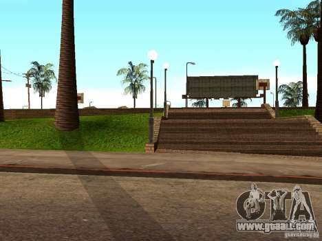The new basketball court in Los Santos for GTA San Andreas fifth screenshot