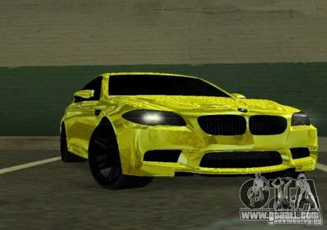 BMW M5 F10 Gold for GTA San Andreas back view