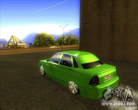 LADA priora car tuning for GTA San Andreas left view