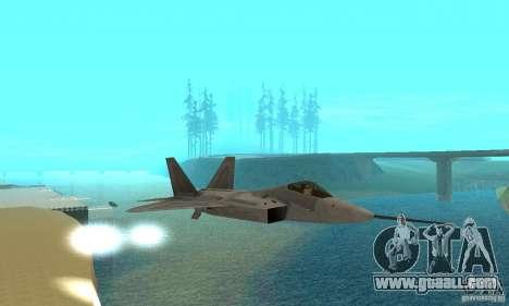 YF-22 Grey for GTA San Andreas inner view